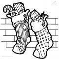 Ausmalbild Weihnachts socke